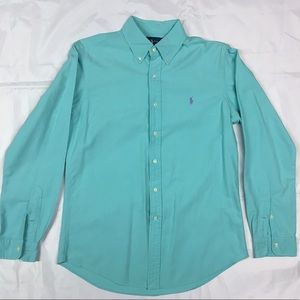 Ralph Lauren Turquoise Medium Long Sleeve Shirt